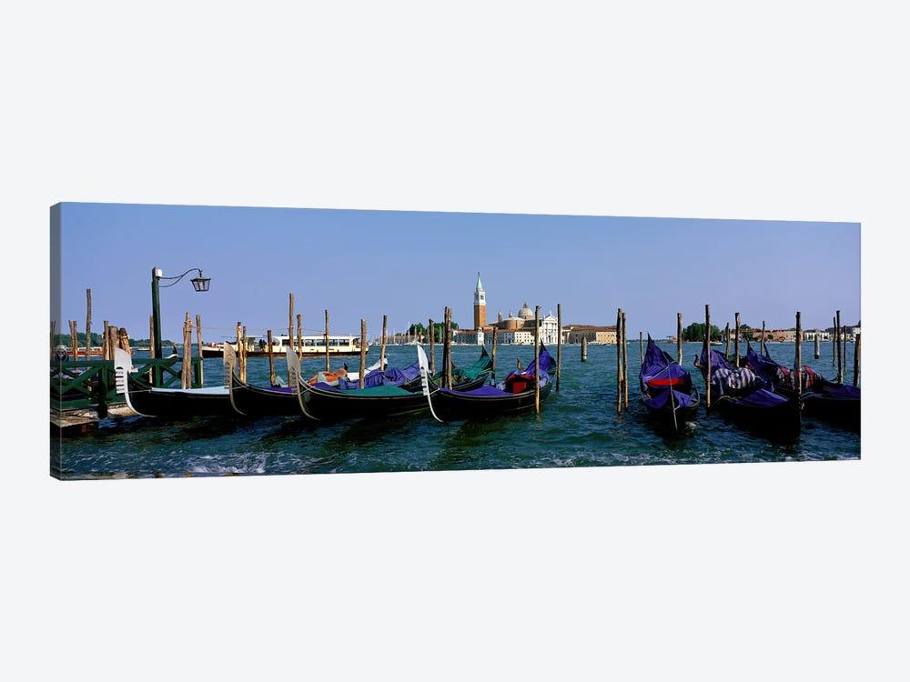 Church of San Giorgio Maggiore and Gondolas Venice Italy by Panoramic Images 1-piece Canvas Artwork