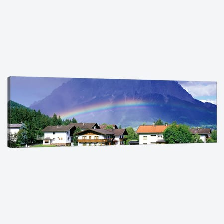 Rainbow Innsbruck Tirol Austria Canvas Print #PIM3917} by Panoramic Images Canvas Print