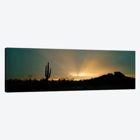 Desert Sunbeams, Near Phoenix, Arizona, USA 3-Piece Canvas #PIM3918} by Panoramic Images Canvas Art