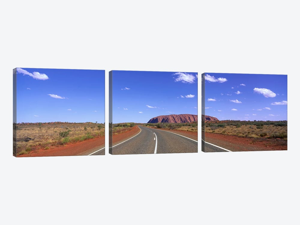 Road and Ayers Rock Australia by Panoramic Images 3-piece Canvas Print