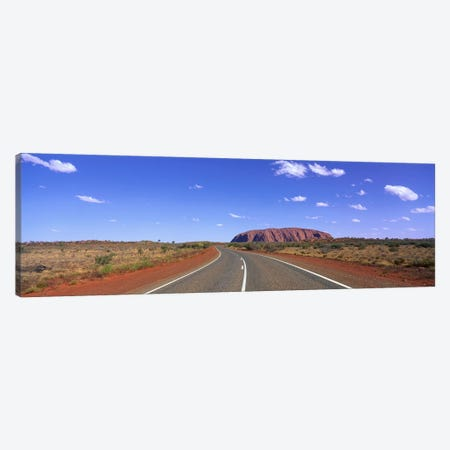 Road and Ayers Rock Australia Canvas Print #PIM3923} by Panoramic Images Art Print