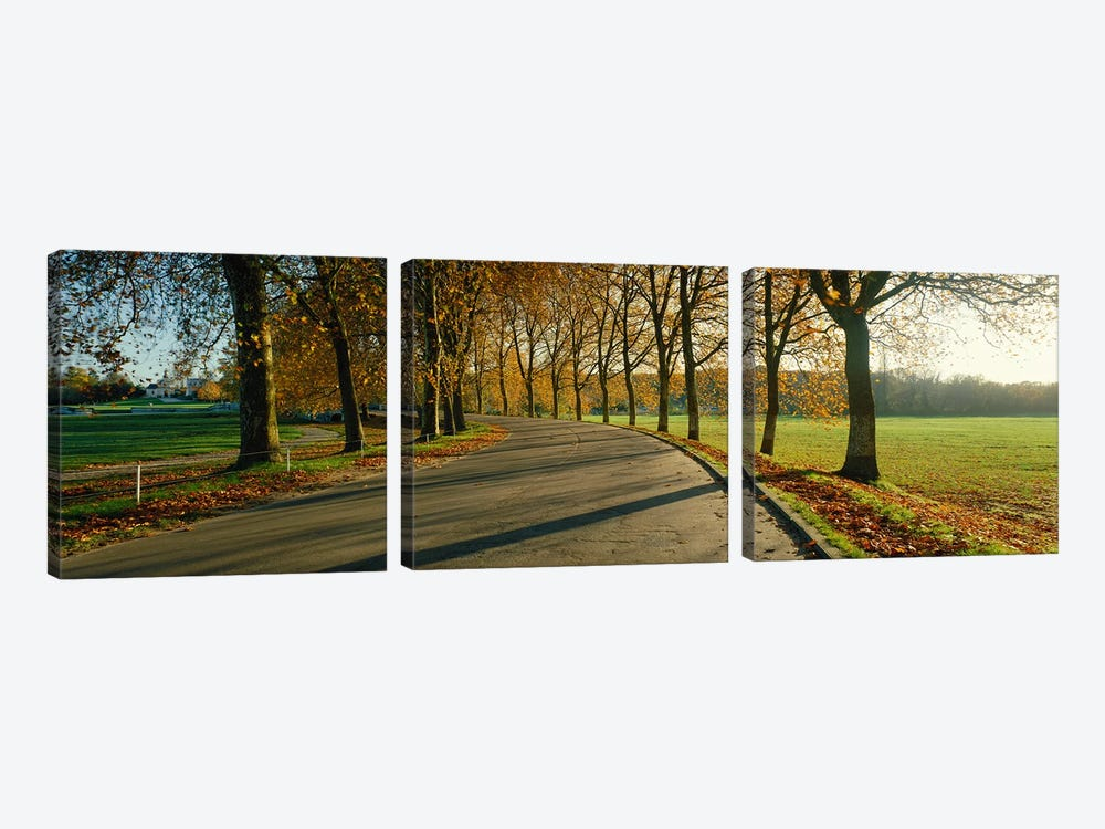 Road at Chateau Chambord France by Panoramic Images 3-piece Canvas Art