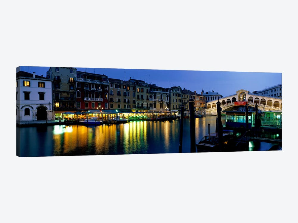 Grand Canal and Rialto Bridge Venice Italy by Panoramic Images 1-piece Canvas Artwork