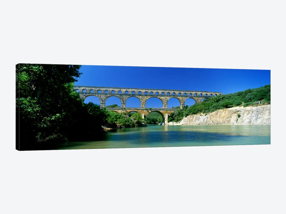 Pont du Gard Roman Aqueduct Provence France by Panoramic Images 1-piece Canvas Print