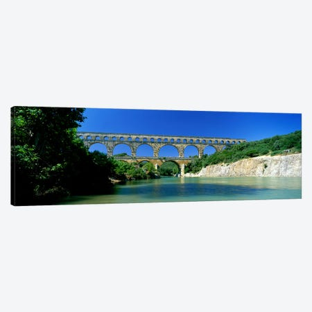 Pont du Gard Roman Aqueduct Provence France Canvas Print #PIM3929} by Panoramic Images Art Print