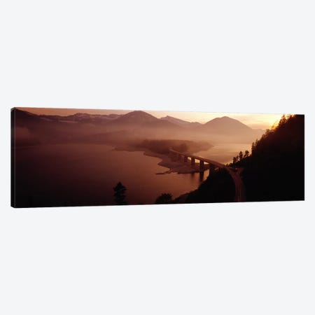 Sylvenstein Lake with Bridge Bavaria Germany Canvas Print #PIM3931} by Panoramic Images Canvas Wall Art