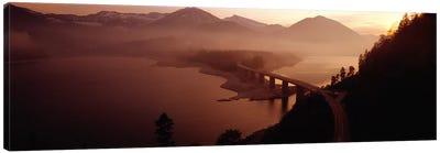 Sylvenstein Lake with Bridge Bavaria Germany Canvas Print #PIM3931