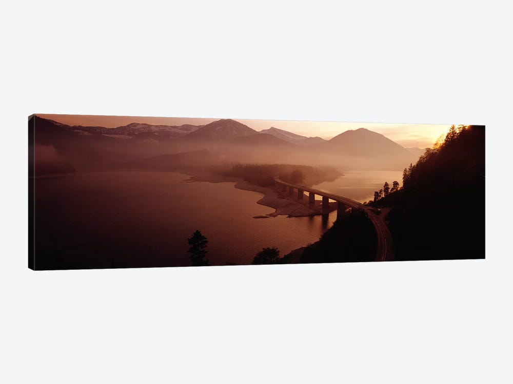 Sylvenstein Lake with Bridge Bavaria Germany by Panoramic Images 1-piece Canvas Artwork
