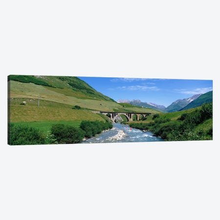 Railway Bridge Switzerland Canvas Print #PIM3932} by Panoramic Images Canvas Artwork