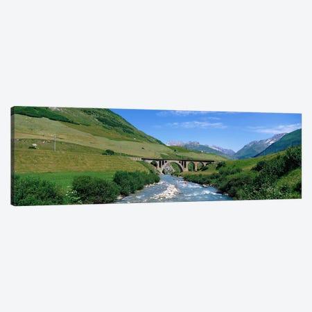 Railway Bridge Switzerland Canvas Print #PIM3932} by Panoramic Images Canvas Artwork