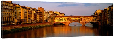Ponte Vecchio Arno River Florence Italy Canvas Print #PIM3933