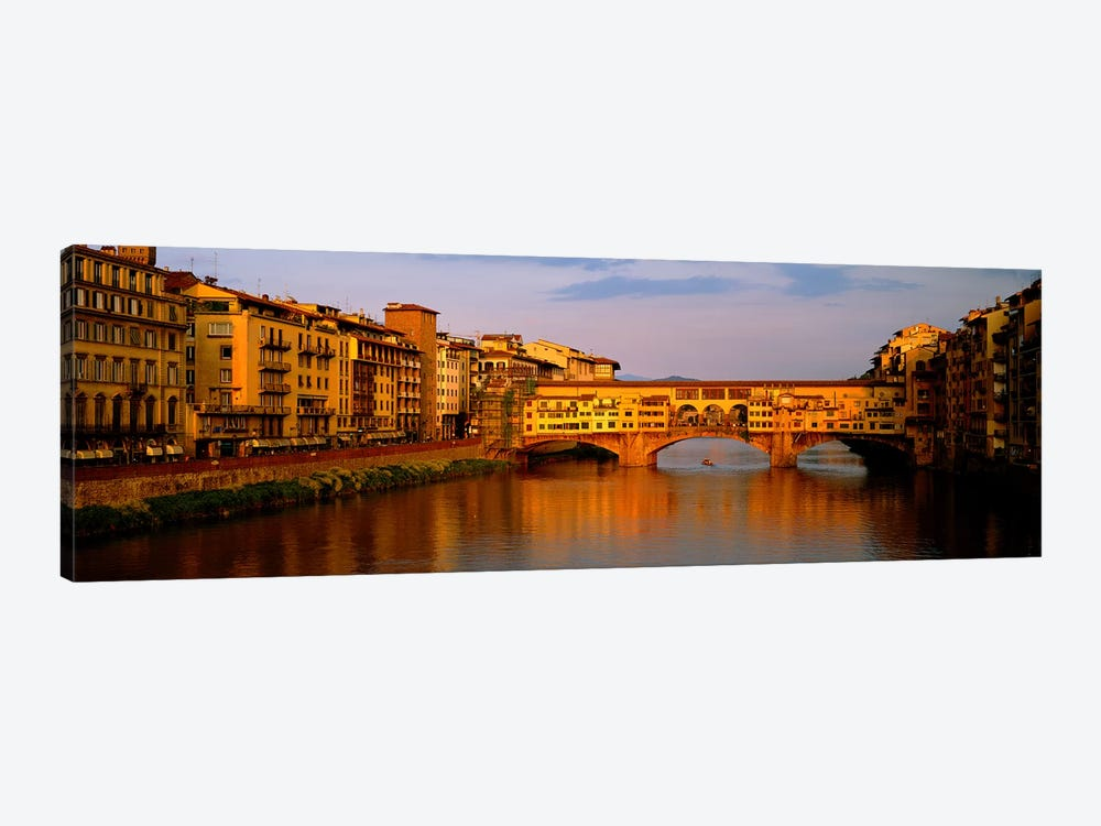 Ponte Vecchio Arno River Florence Italy by Panoramic Images 1-piece Canvas Art