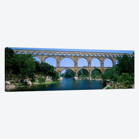 Pont du Gard Roman Aqueduct Provence France Canvas Print #PIM3934} by Panoramic Images Art Print