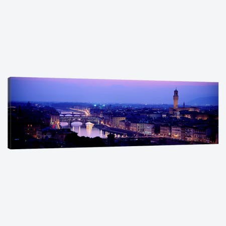 Arno River Florence Italy Canvas Print #PIM3935} by Panoramic Images Art Print