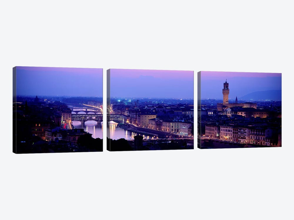 Arno River Florence Italy by Panoramic Images 3-piece Canvas Artwork