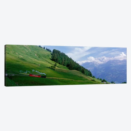 Steam Train near Brienz Switzerland Canvas Print #PIM3937} by Panoramic Images Canvas Art Print
