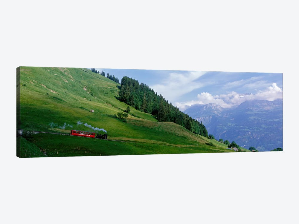 Steam Train near Brienz Switzerland by Panoramic Images 1-piece Canvas Wall Art