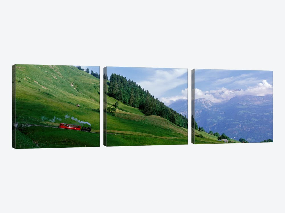 Steam Train near Brienz Switzerland by Panoramic Images 3-piece Canvas Wall Art