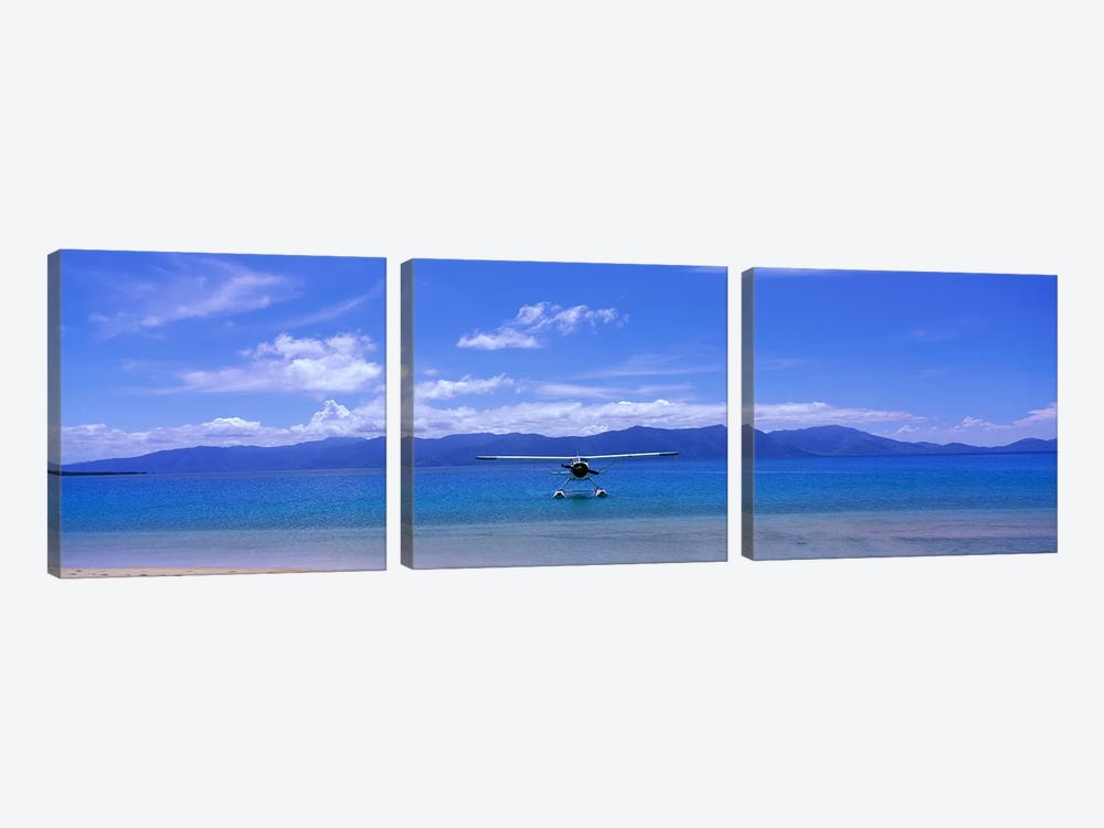 Float Plane Hope Island Great Barrier Reef Australia by Panoramic Images 3-piece Canvas Art Print