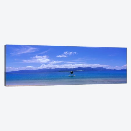 Float Plane Hope Island Great Barrier Reef Australia Canvas Print #PIM3938} by Panoramic Images Canvas Artwork