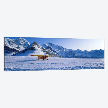 Ski Plane Mannlichen Switzerland Canvas Print #PIM3939} by Panoramic Images Canvas Artwork