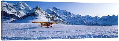 Ski Plane Mannlichen Switzerland Canvas Art Print