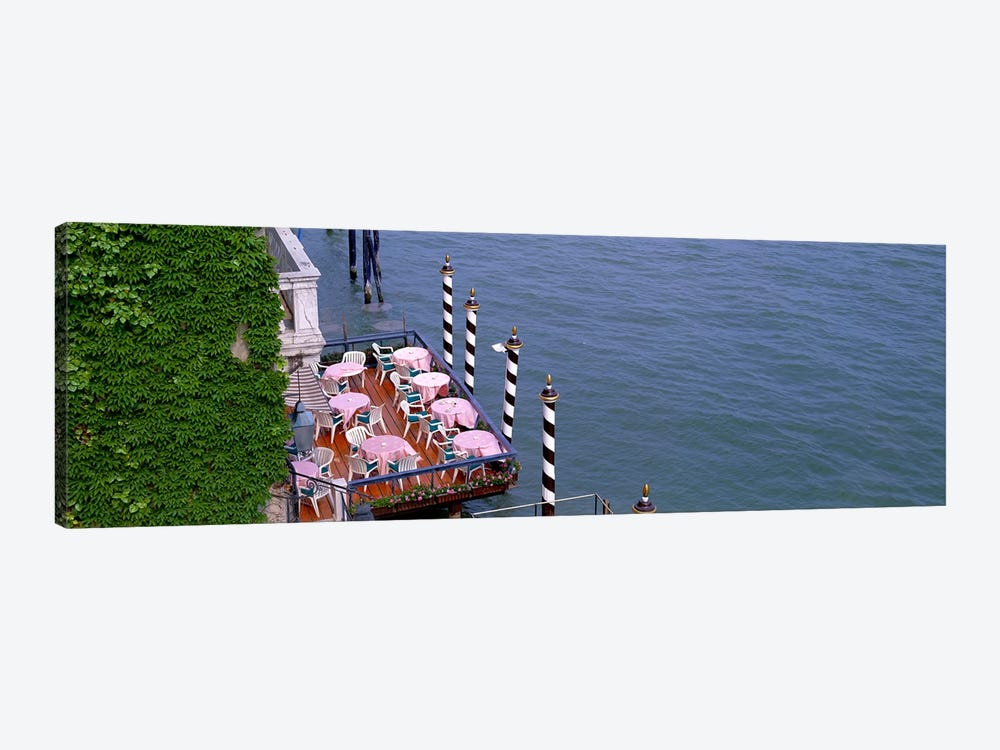 Canal Side Cafe Venice Italy by Panoramic Images 1-piece Canvas Artwork