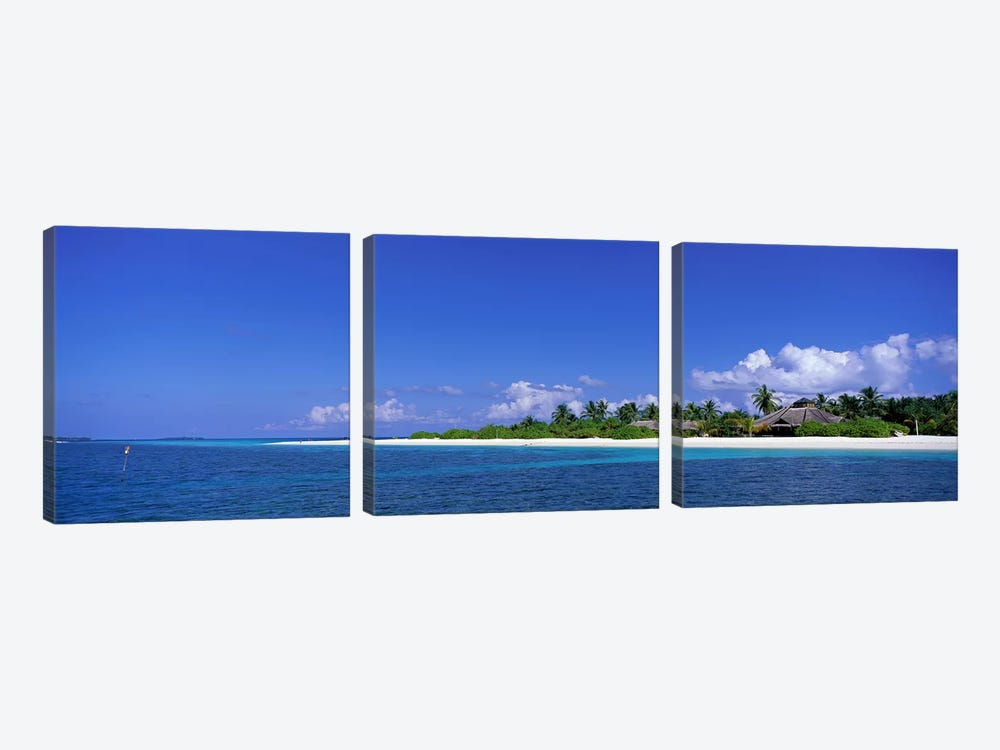 Beach Scene Maldives by Panoramic Images 3-piece Canvas Wall Art
