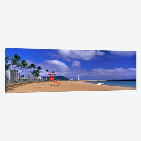 Ala Moana Beach Honolulu HI Canvas Print #PIM3946} by Panoramic Images Canvas Artwork