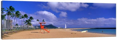 Ala Moana Beach Honolulu HI Canvas Art Print