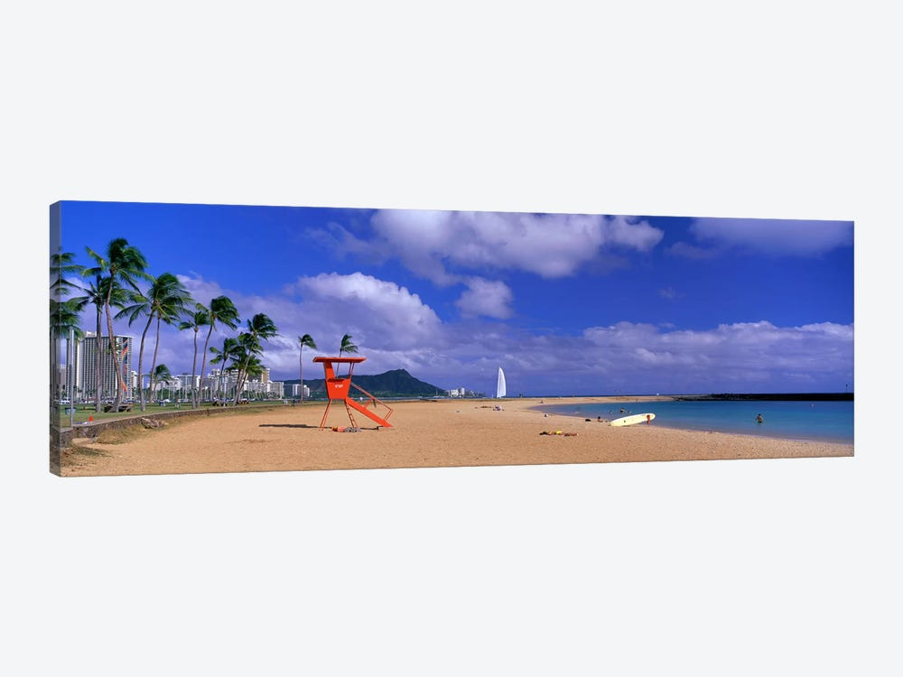 Ala Moana Beach Honolulu HI by Panoramic Images 1-piece Canvas Art