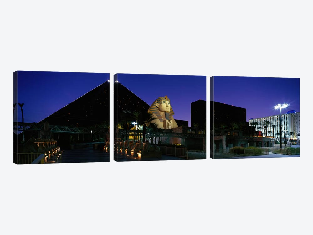 Luxor Hotel Las Vegas Nevada USA by Panoramic Images 3-piece Canvas Art Print