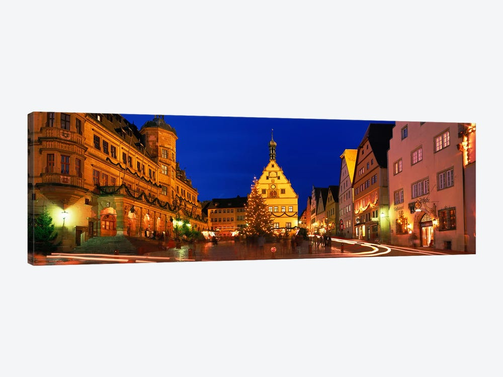 Nighttime At Christmas, Marktplatz, Rothenburg ob der Tauber, Bavaria, Germany by Panoramic Images 1-piece Art Print
