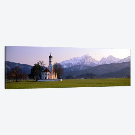 St Coloman Church and Alps Schwangau Bavaria Germany Canvas Print #PIM3954} by Panoramic Images Canvas Print