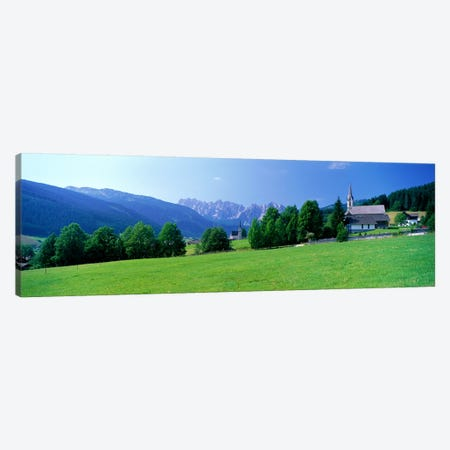 Country Churches near Dachstein Gosau Austria Canvas Print #PIM3955} by Panoramic Images Canvas Art Print
