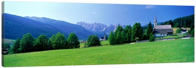 Country Churches near Dachstein Gosau Austria Canvas Art Print