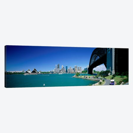 Sydney Harbour As Seen From Kirribilli, Sydney, New South Wales, Commonealth Of Australia Canvas Print #PIM3958} by Panoramic Images Canvas Wall Art