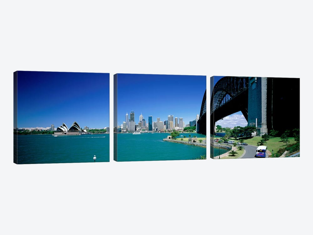 Sydney Harbour As Seen From Kirribilli, Sydney, New South Wales, Commonealth Of Australia by Panoramic Images 3-piece Canvas Art Print