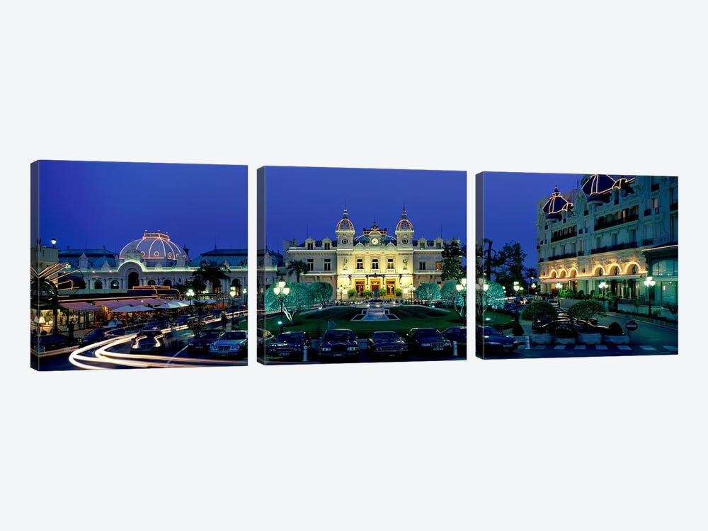 Casino Monaco by Panoramic Images 3-piece Canvas Art