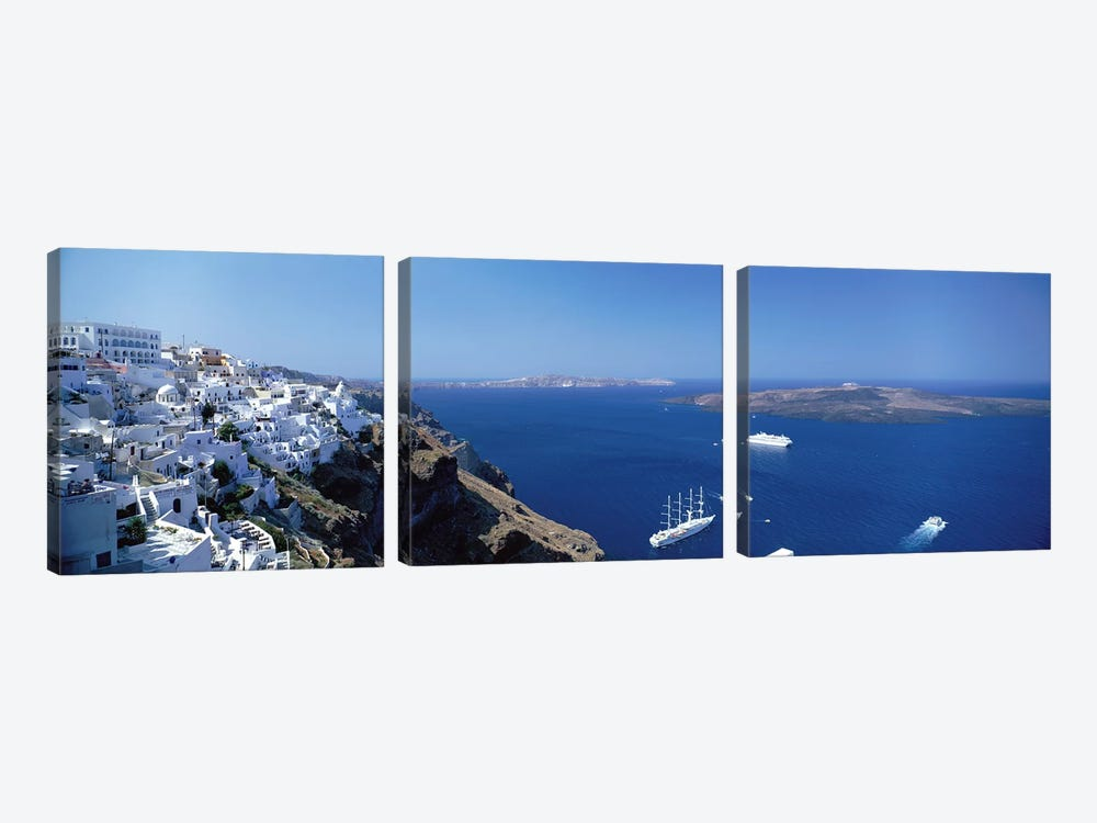 Santorini Greece 3-piece Canvas Art
