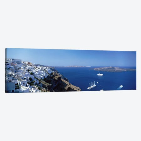 Santorini Greece 3-Piece Canvas #PIM3966} by Panoramic Images Canvas Art