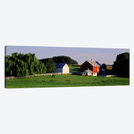 Farm, Baltimore County, Maryland, USA Canvas Print #PIM396} by Panoramic Images Art Print