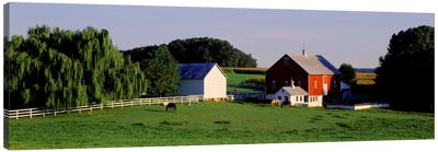 Farm, Baltimore County, Maryland, USA Canvas Art Print