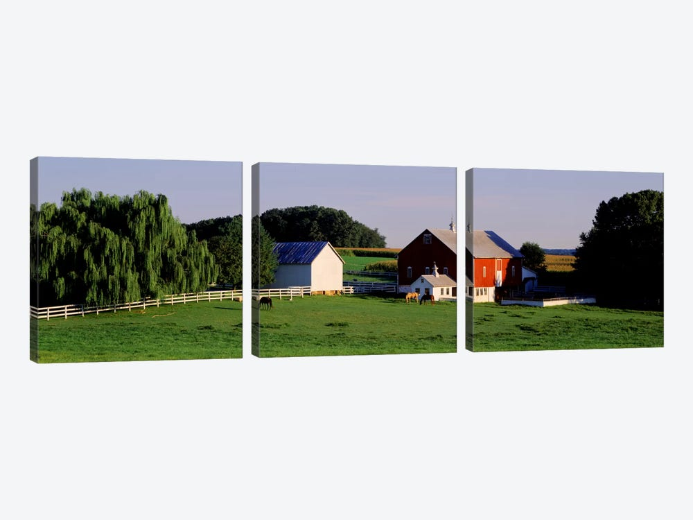 Farm, Baltimore County, Maryland, USA by Panoramic Images 3-piece Art Print