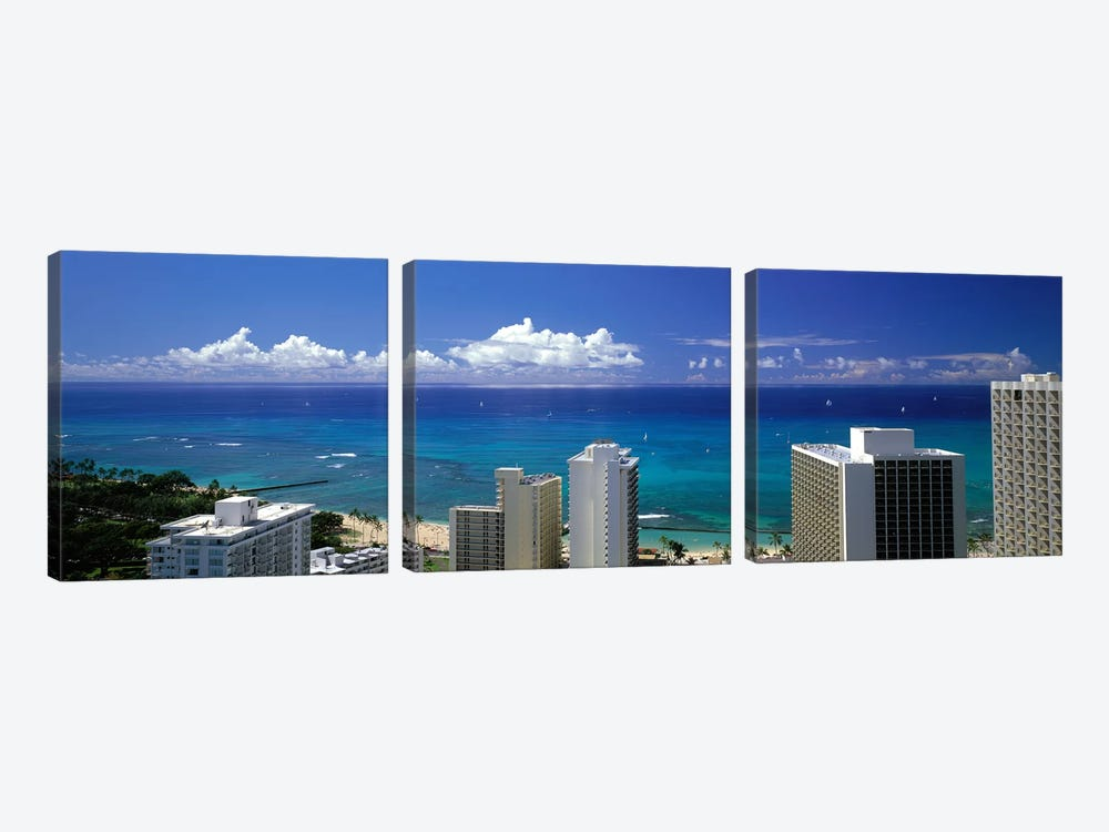 Honolulu Hawaii #3 by Panoramic Images 3-piece Canvas Art