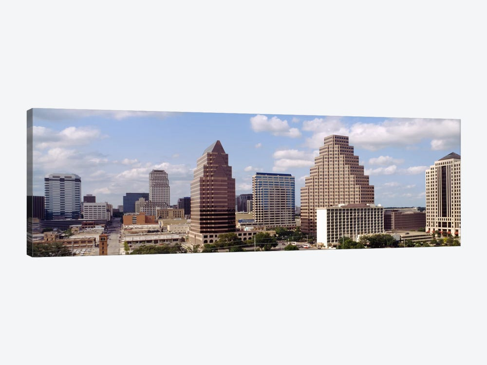 Buildings in a city, Town Lake, Austin, Texas, USA by Panoramic Images 1-piece Canvas Art