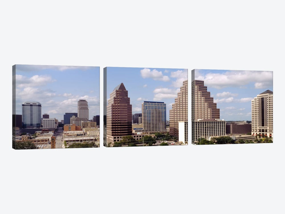 Buildings in a city, Town Lake, Austin, Texas, USA by Panoramic Images 3-piece Canvas Wall Art