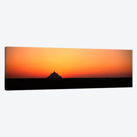 Sunset at Mont Saint Michel Normandy France Canvas Print #PIM3982} by Panoramic Images Canvas Art Print
