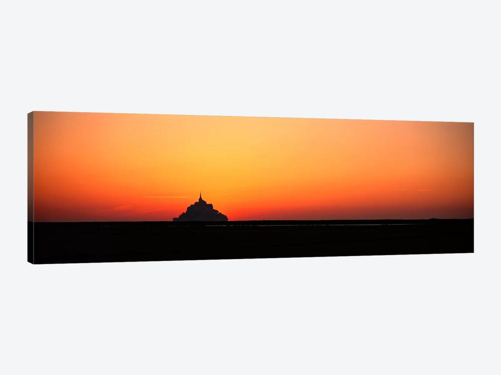Sunset at Mont Saint Michel Normandy France by Panoramic Images 1-piece Canvas Wall Art