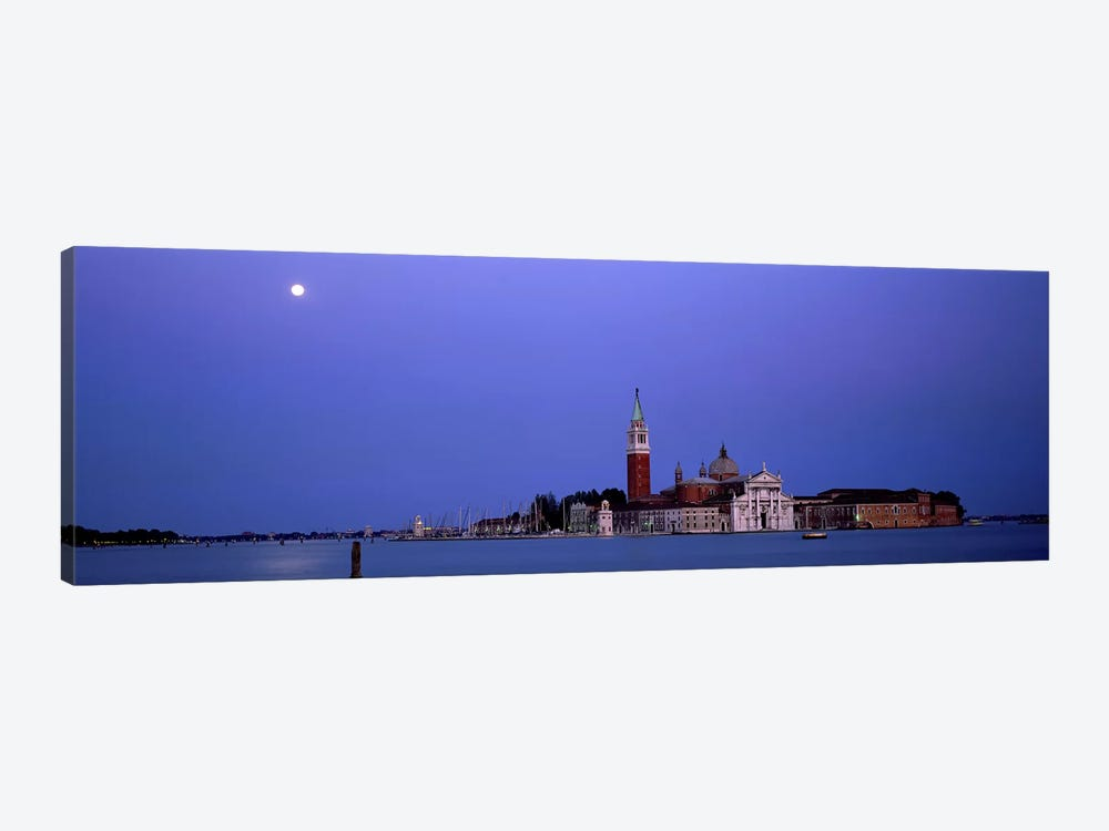 Moon over San Giorgio Maggiore Church Venice Italy by Panoramic Images 1-piece Canvas Artwork
